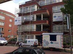 Stukadoorsbedrijf De Groot aan het werk in Den Haag.